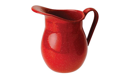 The GSI Outdoors Enamelware Water Pitcher