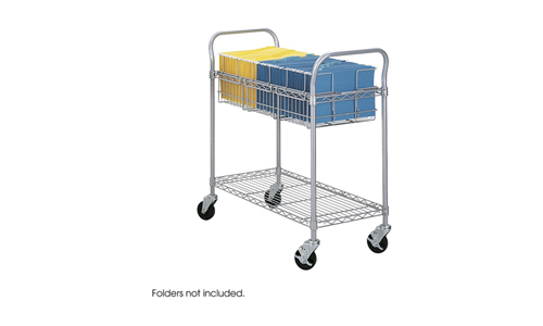 Safco Products 5236GR Wire Mail Cart, Legal Size
