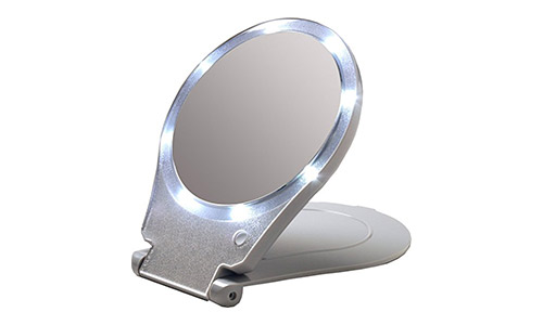 The Floxite LED Lighted Travel and Home Magnifying Mirror