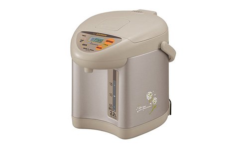 Zojirushi CD-JUC22CT Micom 2.2-Liter Water Boiler and Warmer, Champagne Gold