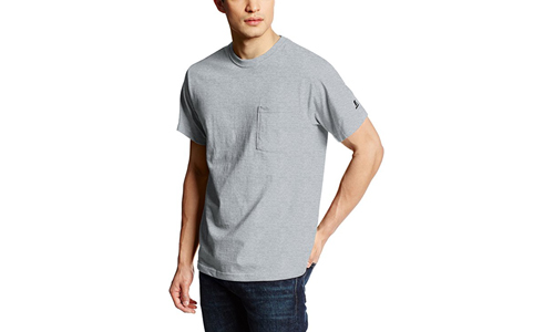 Russell Athletic Men's Basic Cotton Pocket T-Shirt