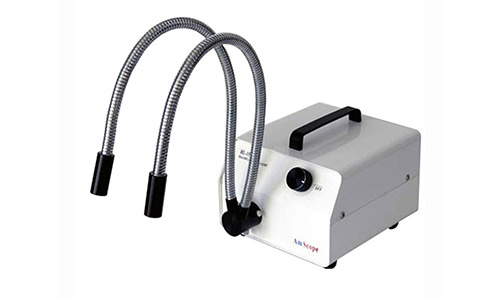 Amscope HL150-AY 150W Fiber Optic Dual Gooseneck Microscope Light Illuminator