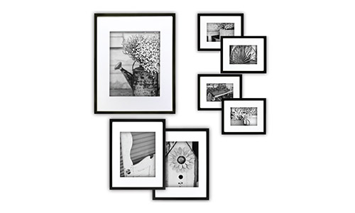 Gallery Perfect Black Photo Frame Kit