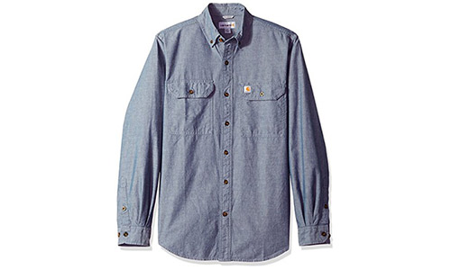 The Carhartt Men's Lightweight Chambray Button Front Shirt