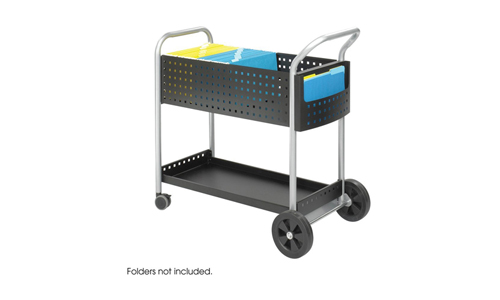 Safco 5239BL Scoot Mail Cart
