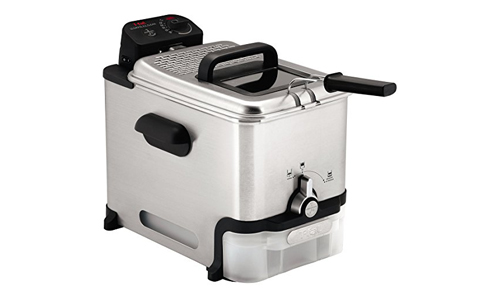 T-fal FR8000 Oil Filtration Ultimate EZ Clean Easy to clean 3.5-Liter Fry Basket Stainless Steel Immersion Deep Fryer, 2.6-Pound, Silver