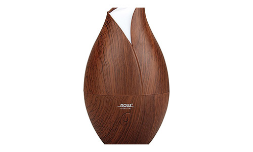The NOW Ultrasonic Faux Wood Essential Oil Diffuser