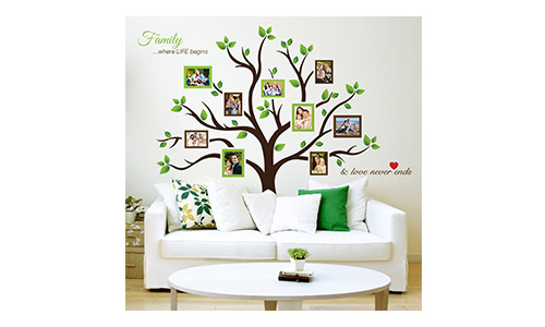 Timber Artbox Larger Family Tree Photo Frame