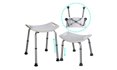 Eight height Adjustable shower chair medical bath bench