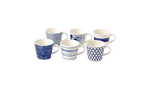 The Set of 6 Royal Doulton Pacific Accent Mugs