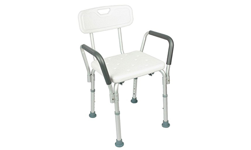 Shower chair with back by Vive- bathtub chair