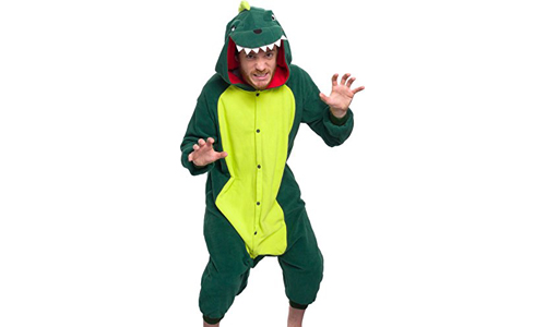 Unisex Adult Pajamas Dinosaur Animal Costume (One Piece) by SILLY LILLY