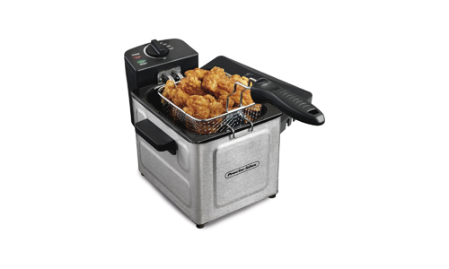 Proctor Silex (35041) Deep Fryer, With Basket, 1.5 Liter Oil Capacity, Electric, Professional Grade, Stainless Steel