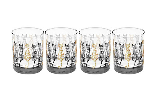 Culver gold glass set