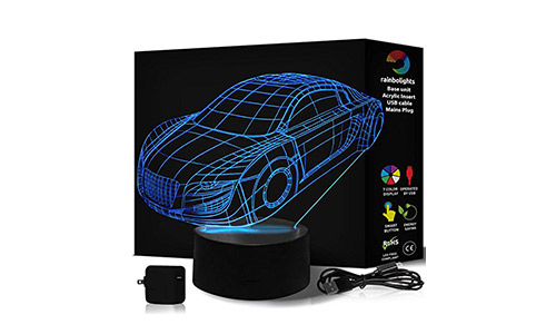 NOVELTY GIFT 3D Illusion Lamp Car