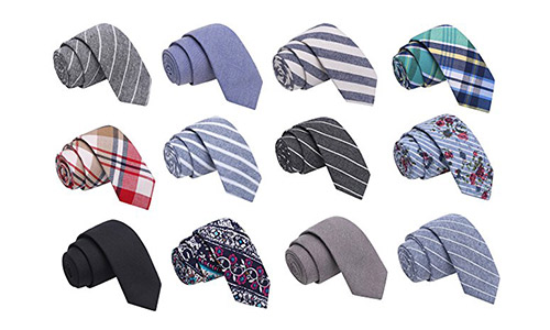 Bundle of 12 Skinny Madness Ties (Men)