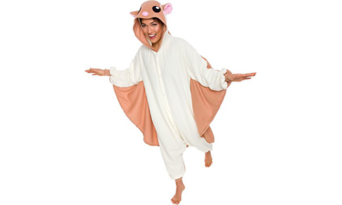 Flying Squirrel Unisex Adult Onesies Animal Costume by SILVER | LILLY