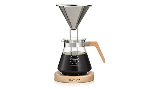 The Osaka Pour-Over Coffee Dripper with Wood Stand