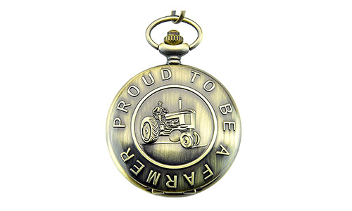 Proud to Be a Farmer RUHE Men's Quartz Pocket Watch