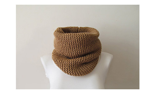 Hand knitted camel neck warmer