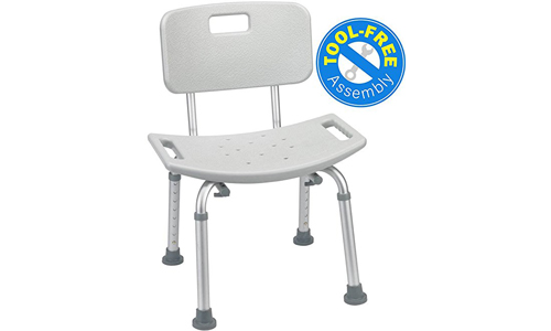 Medical tool-free Assembly spa bathtub adjustable shower chair