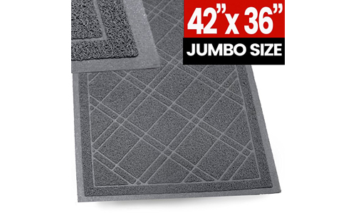 SlipToGrip Universal Plaid Door Mat