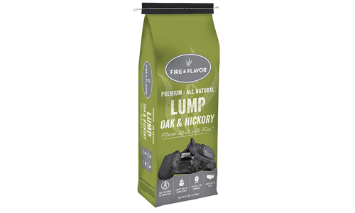 Pack of 2 Premium Quality Natural Oak and Hickory Lump Charcoal 8 lbs by FIRE & FLAVOR