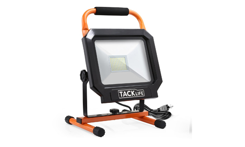 Tacklife 5000LM 50W LED Work Light, The Best Heat Dissipation, IP65 Waterproof Flood Lights, Stand Working Lights for Garage, Garden, Lawn and Yard - LWL3B