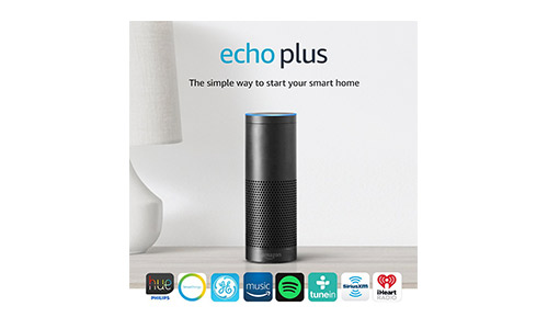 The Echo Plus with Built-in Hub + Philips Hue Bulb