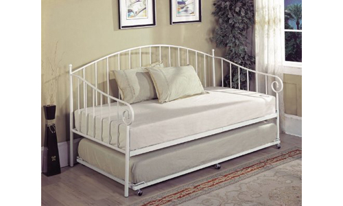 Kings Brand Furniture White Metal Day Bed