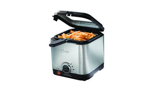 Oster CKSTDF102-SS Compact Style Stainless Deep Fryer, Stainless Steel