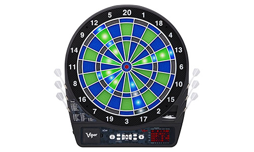 Viper ion illuminated electronic soft tip dartboard