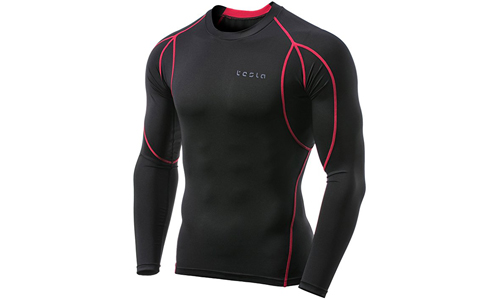 Tesla Men's Long Sleeve T-Shirt Baselayer Cool Dry Compression Top