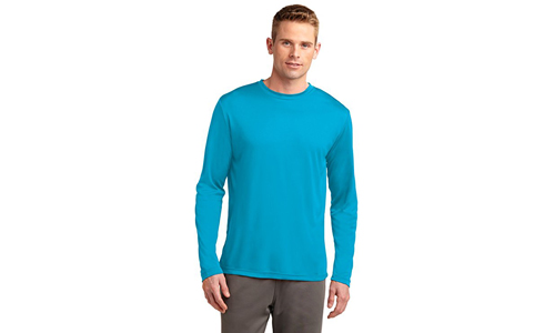 Dri-Tek Big & Tall Long Sleeve Moisture-Wicking Athletic T-Shirt