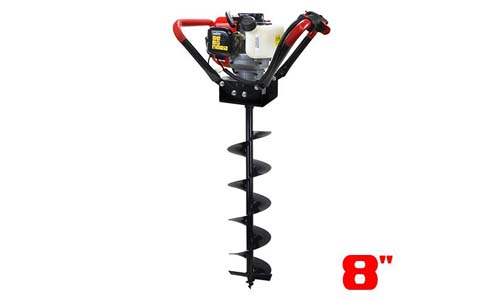 XtremepowerUS V-Type 55CC 2 Stroke Gas Post Hole Digger One Man Auger