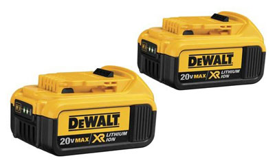 DEWALT 20V MAX XR Battery, 4.0-Ah, 2-Pack (DCB204-2)
