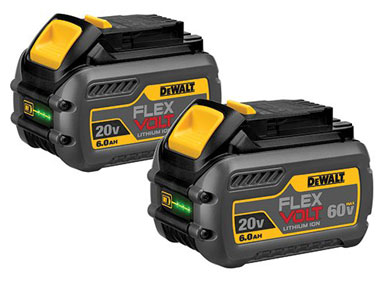 DEWALT DCB606-2 20V MAX 6.0Ah Lithium-Ion Premium Battery, 2 Pack