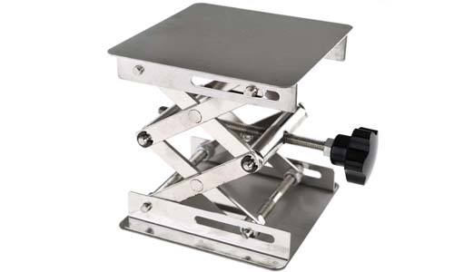 Micro Trader Stainless Steel Lab Stand Table Scissor Lift Table