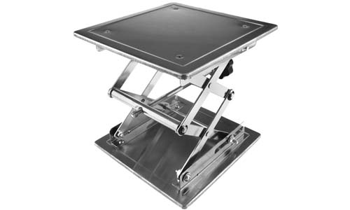 Micro Trader Stainless Steel Scissor Lift Table