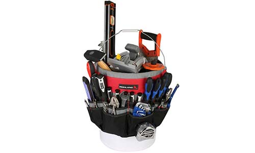 IRELAND 1130 Bucket Tool Garden Organizer with 51-Pocket, Heavy Duty Tool Carrier Holder Fit for 5 Gallon Bucket
