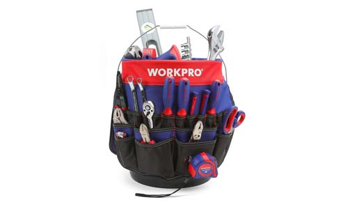 WORKPRO Bucket Tool Organizer With 51 Pockets Fits 3.5-5 Gallon Bucket (Tools Excluded)