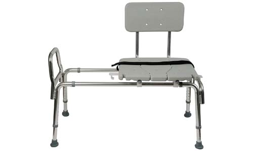 Duro-Med Heavy-Duty Sliding Transfer Bench Shower