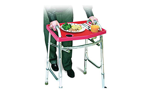 Rose Healthcare Walker Tray With Non-Slip Grip Mat
