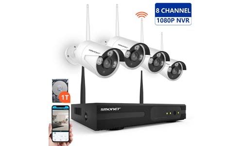 SMONET 1080P 8 Channel Video Security System