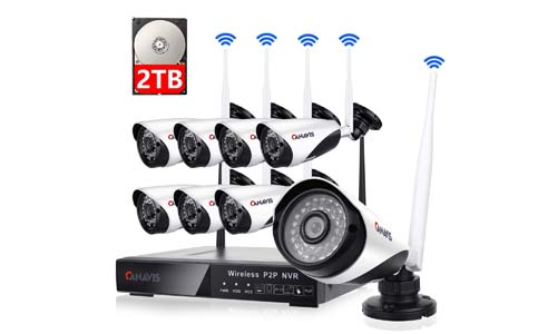 Channel Wireless Security Camera System