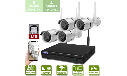 Wireless 8-Channel 1080P Security Camera