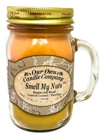 Smell My Nuts Scented 13 oz Mason Jar Candle