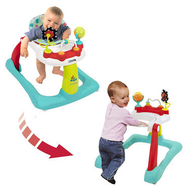 Kolcraft Tiny Steps 2-in-1 Activity Baby Walker