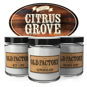 Scented Candles - Citrus Grove by Old Factory Candles