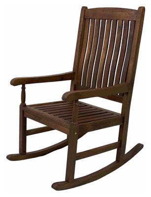IC's Brown Traditional Style Rocking Chair